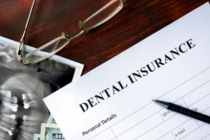 A dental insurance claim form